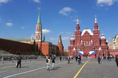 Rode Vierkant en het Kremlin, Moskou, Rusland Royalty-vrije Stock Afbeeldingen