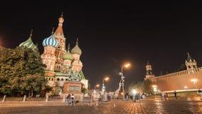 Rode Vierkant, het Kremlin en St Basil Cathedral 4K timelapse 17 sep 2018 - Moskou, Rusland stock video