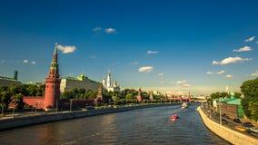 Rode Vierkante de tijdtijdspanne van Moskou stock videobeelden