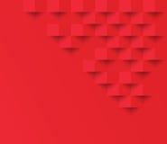 Rode vierkante geometrische textuur Abstracte vierkante geometr als achtergrond stock illustratie