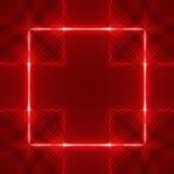 Rode vierkante golfrug Stock Foto's