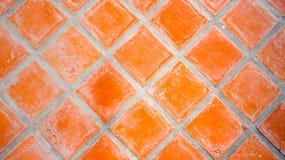 Rode Vierkante Tegel stock afbeelding