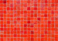 Rode vierkante tegelachtergrond Royalty-vrije Stock Foto
