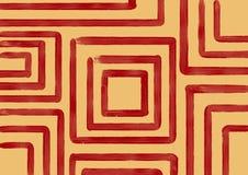 Rode vierkanten op oranje achtergrond Stock Afbeeldingen