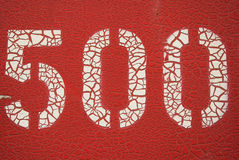 Rode vijf honderd royalty-vrije stock foto's