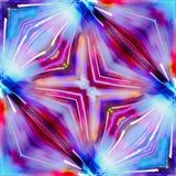 Rode violette en blauwe kleur Stock Afbeelding