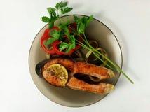 rode vissen op de grill Stock Fotografie