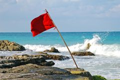 Rode vlag stock afbeelding