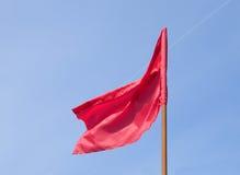 Rode vlag Royalty-vrije Stock Afbeelding