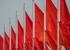 Rode vlaggen Royalty-vrije Stock Fotografie