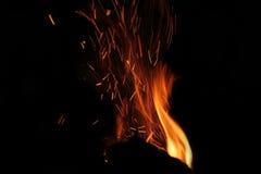 Rode vlammen van brand 2 Royalty-vrije Stock Foto's