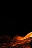 Rode vlammen van brand 3 Stock Afbeeldingen