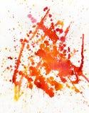 Rode vlek, waterverfachtergrond Stock Fotografie