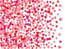 Rode vliegende de hartstochts vectorachtergrond van de harten heldere liefde stock foto's