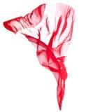 Rode vliegende geïsoleerded stof Royalty-vrije Stock Fotografie