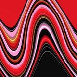 Rode vloeibare achtergrond, lichtenachtergrond, kleuren, schaduwen abstracte grafiek Abstracte achtergrond en textuur stock illustratie