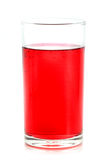 Rode vloeistof in glas Stock Foto