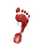 Rode voetafdruk Royalty-vrije Stock Afbeeldingen