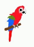 Rode vogel stock illustratie