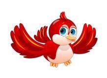Rode vogel op witte achtergrond royalty-vrije illustratie