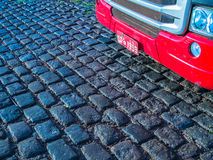 Rode vrachtwagen Stock Afbeeldingen