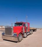 Rode Vrachtwagen Stock Foto's