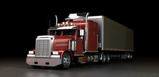 Vrachtwagen bij nacht royalty-vrije illustratie