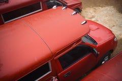 Rode vrachtwagens Royalty-vrije Stock Fotografie