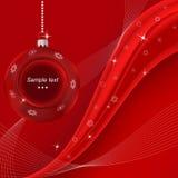 Rode vrolijke Kerstmisachtergrond. Vector illus eps10 Stock Afbeelding