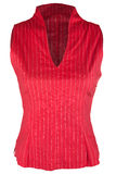 Rode vrouwelijke blouse Stock Foto's