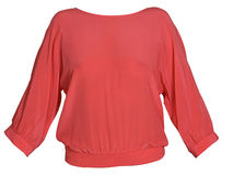 Rode vrouwenblouse Stock Foto