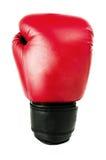 Rode vuisthandschoen voor het in dozen doen Royalty-vrije Stock Foto's