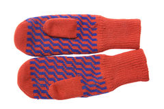 Rode vuisthandschoenen Stock Afbeelding