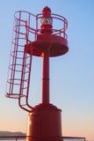 Rode vuurtoren van San Benedetto del Tronto stock foto