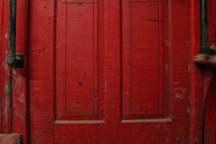 Rode wagendeur royalty-vrije stock afbeelding