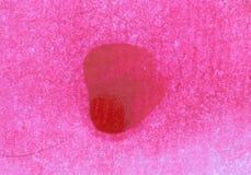 Rode waterverfverf met verworpen varkenshaar royalty-vrije stock afbeeldingen