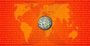 Rode wereldkaart Stock Fotografie