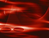 Rode wervelende lijnen Stock Afbeelding