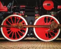 Rode wielen Stock Fotografie