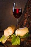 Rode wijn in een glas Stock Fotografie