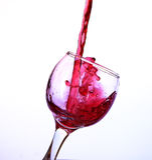 Rode wijn in een kristalglas Stock Afbeelding