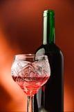 Rode wijn en glas Stock Afbeeldingen