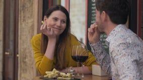 Rode wijn en kaas - perfecto stock videobeelden
