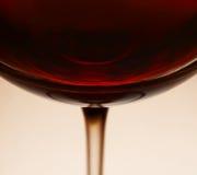 Rode wijn in glas Royalty-vrije Stock Fotografie