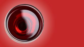 Rode Wijn in Glas op kleurenachtergrond Stock Afbeeldingen