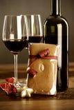 Rode wijn, Kerstmissnuisterij en peperkoek Stock Afbeelding