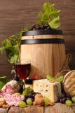 Rode Wijn met brood royalty-vrije stock foto