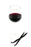 Rode wijn, vanillebonen Royalty-vrije Stock Afbeelding