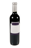 Rode wijnfles. Stock Afbeelding