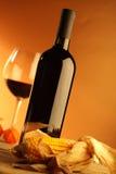 Rode wijnfles Royalty-vrije Stock Foto